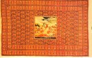 Ворсистый ковёр Сение. 19-й век. Тебризская школа, Южный Азербайджан.